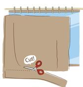 紙代替カーテン