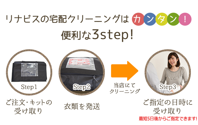 便利な3STEP!